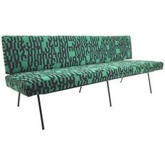 """Florence Knoll Sofa in Maharam """"Letters"""""""