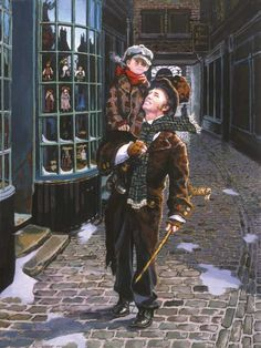 Tiny Tim and Bob Cratchit by Dean Morrissey