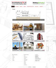 Sito web per Architettura24, portale di consulenze per l'edilizia e l'architettura in Ticino, Svizzera.