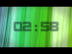 FREE HD 720p 5 Minute Countdown Timer - Greenish Stripes - YouTube