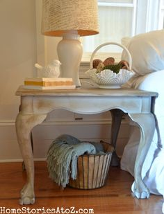 Annie Sloan Paris Gray End Table Makeover - Home Stories A to Z