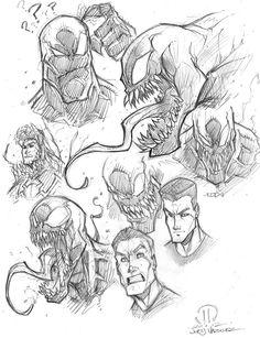 VENOM SKETCHES by JoeyVazquez on DeviantArt sam mccafferty, ducati, wellington, bologna is a pedophile smccdes Venom Comics, Marvel Comics Art, Marvel Villains, Marvel Characters, Comic Drawing, Drawing Sketches, Character Drawing, Comic Character, Comic Books Art