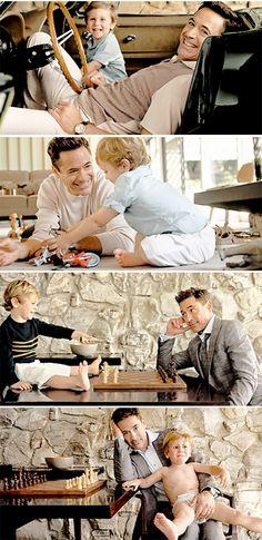 Robert Downey Jr. and his son Exton Elias Downey, 2.  (2014 Vanity Fair photoshoot)