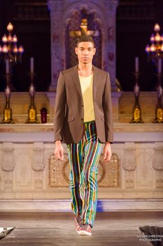 Cocody Collections for the Black Fashion Week Montreal 2014 - Men Printed Pants