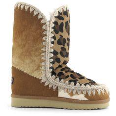Mou Eskimo Zip Short Boots Mix Ponyskin - MOU