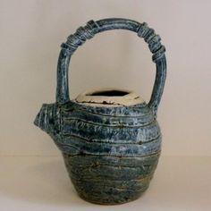 Coil Pottery Handmade Glazed Teapot