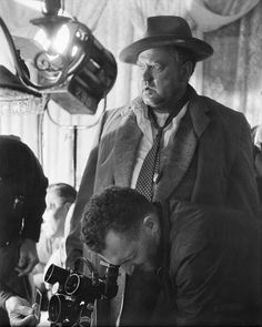Orson Welles on the set of Touch of Evil, 1958, which he directed and starred in