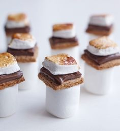 Mini Food Ideas - I feel like they would be better without the marshmallow on bottom.
