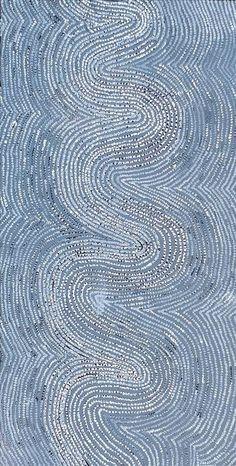 Ngapa Jukurrpa (Water Dreaming) - Pirlinyarnu by Phyllis Napurrurla Williams Aboriginal Painting, Aboriginal Artists, Dot Painting, Encaustic Painting, Collages, Textile Prints, Lino Prints, Block Prints, Mosaic Diy
