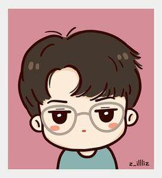 Exo lucky one fanart sehun Exo Cartoon, Cartoon Fan, Exo Stickers, Cute Stickers, Kpop Fanart, Kpop Drawings, Cute Drawings, Exo Lucky One, Sehun Cute