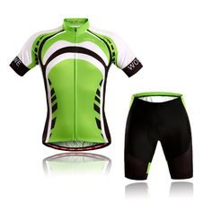 WOSAWE Mens Breathable Cycling Jersey Padded Shorts (Green Knights Suit, L). Professional fitting design, use more breathable material, and according to human body engineering use suitable materials to make it more dry and comfortable. Unique mesh fabric under armpit for keeping drying and cooling, Direct-vent panels and full length zipper for ventilation. Hem with WOSAWE logo silicone band, can provent skin allergy and the cloth upglide during riding very well. 3 pockets at the back…