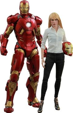 Iron Man 3 Movie Masterpiece Action Figure 2-Pack 1/6 Mark IX & Pepper Potts