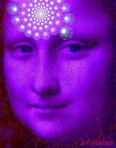 Mona Lisa in Purple