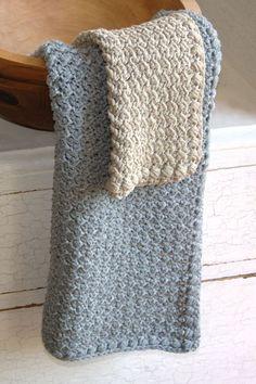 Crochet Pattern - Dishcloth and Hand Towel Pattern Set - Creek Pebbles by HiddenMeadowCrochet