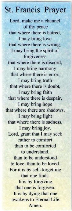 The St. Francis Prayer