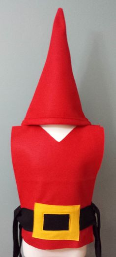 Our adorable Gnome Costume Set is a perfect costume. Each tunic is made of Eco-Friendly blue or red felt with black belt with gold detail. Choose to add on our gnome hat and beard. READY TO SHIP IN 1-3 DAYS Our Costume Tunics are made from Eco-Friendly felt with hand cut details sewn on. The tunics are open on the sides with a tie belt. Perfect for Parties, School Plays, Halloween, and Dress Up! All our tunics are machine washable. Hang Dry. Available individually and in party packs. http...