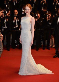 Emma Stone in Dior Couture - Cannes Film Festival 2015: Red Carpet | Harper's Bazaar