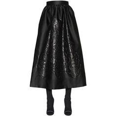 Fendi Women Embossed Duchesse Satin Skirt