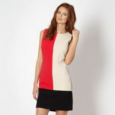 The Collection Bright pink colour block shift dress- at Debenhams.ie