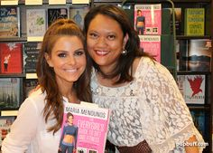 Maria Menounos and Popbuff blogger Ruchel Freibrun
