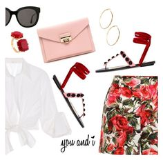 """""""You and I :*"""" by dressedbyrose ❤ liked on Polyvore featuring Dolce&Gabbana, Johanna Ortiz, Attico, GUESS by Marciano, Gentle Monster, Les Néréides, romantic, ootd, Dailylook and polyvoreeditorial"""