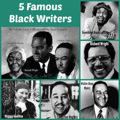 5 Famous Black Writers from Starts At Eight African American Authors, American Poets, Famous Black Americans, Famous Black Poets, Richard Wright, Black Authors, National Book Award, Writers And Poets, Book Writer