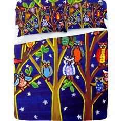 Renie Britenbucher Owl Party Sheet Set by Deny Designs