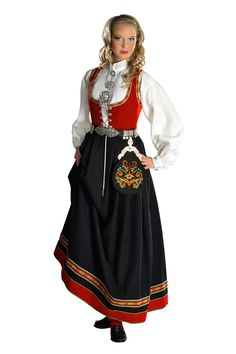 Bunad   denne bunaden bare ikke svart skjørt, men blått ;) Art Costume, Folk Costume, Costumes, Classy Outfits, Classy Clothes, Beauty Art, Ethnic Fashion, Norway, Doll Clothes