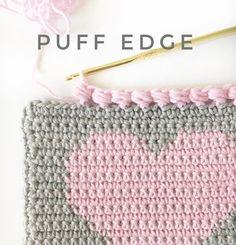 How to Puff Edge Crochet Stitch - Daisy Farm Crafts