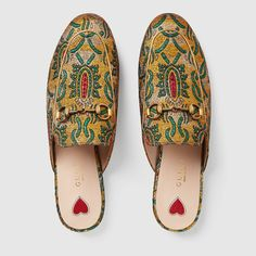Gucci Slipper Princetown de Brocado Detail 3