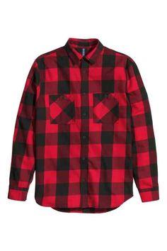 Kostkovaná flanelová košile