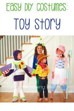 Easy DIY Toy Story Costumes: diy Buzz lightyear costume, diy slinky dog costume, diy Bo Peep, DIY toy story alien and DIY Woody costume. All no sew toy story costumes, costume ideas for Mickey's Not So Scary Halloween party Halloween This Year, Scary Halloween, Halloween Party, Woody Costume, Buzz Lightyear Costume, Toy Story Costumes, Group Costumes, Easy Diy Costumes, Costume Ideas