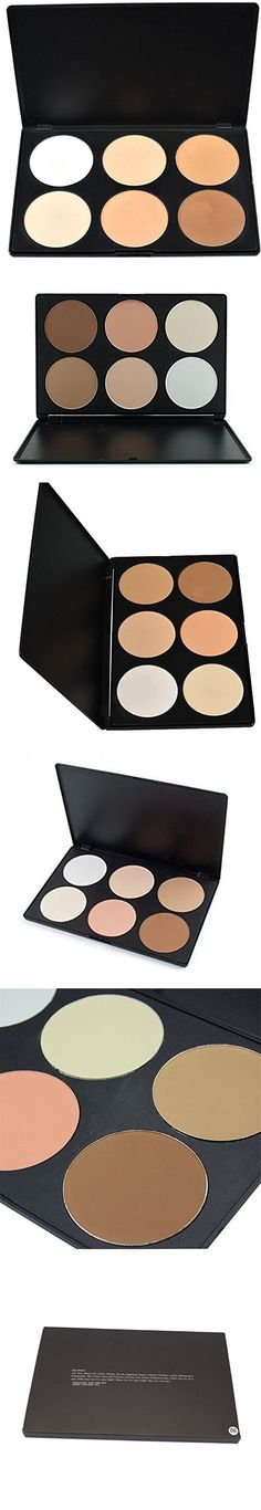 RoseFlower Pro 6 Colours Large Face Press Powder Foundation Concealer Camouflage Makeup Palette Cosemetic Contouring Kit - Ideal for Professional and Daily Use Dark Colors, Light Colors, Colours, Camouflage Makeup, Pressed Powder Foundation, Neutral Colour Palette, Makeup Palette, Contouring, Skin Problems