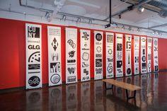 Michael Bierut's SVA Exhibition featuring his corporate logo designs