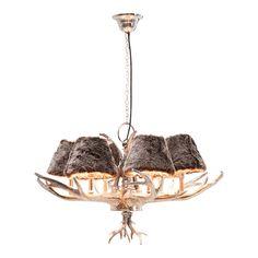 En hjemmekoselig lampe som har seks pels-look lampeskjermer, som gir lampen et rustikt preg. Energiklasse: A-E Materiale: Stål forniklet, aluminium, polyester