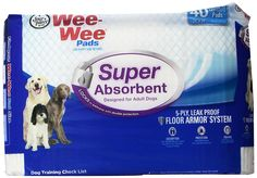 Four Paws Wee-Wee Super Absorbent Dog Housebreaking Pads >>> More info could be found at the image url.