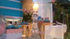 Festa 15 anos #aoestilodabia #Tiffanyerealeza #rosaeazul #casticais