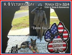 K9 Veterans Day - we thank you for your service !  #servicedog #veteransday #military
