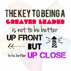 """Be a Greater Leader TODAY: Another """"Lead by example."""""""