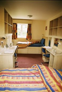 Twin room, Yeats Village. Students' Union, Twin Room, Student Apartment, Corner Desk, House Ideas, Furniture, Home Decor, Homemade Home Decor, Corner Table