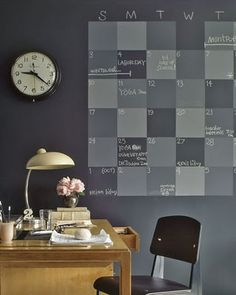 Paint a wall like a chalkboard.  i've some ideas to develop...