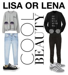 """LISA OR LENA?"" by elzajanuliene on Polyvore featuring MANGO, Converse, Spitfire, Yves Saint Laurent, adidas Originals and Ray-Ban"