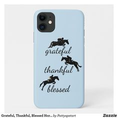 Shop Grateful, Thankful, Blessed Horse Jumping Case-Mate iPhone Case created by Pattyspetart. Riding Hats, Riding Helmets, Horse Riding, Equestrian Outfits, Equestrian Style, Thankful And Blessed, Grateful, Country Phone Cases, Iphone 11