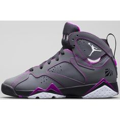 info for fd0d2 9fa0f Air Jordan 7 Retro Girls Dark Grey White-Black-Fuchsia Flash ❤ liked