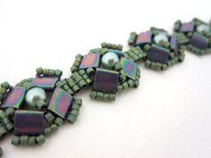 Aztec Tila Bracelet Tutorial by Carole Ohl8+ 4mm rounds, pearls or firepolish (500) Size 11 Delicas (32) Tila™ beads