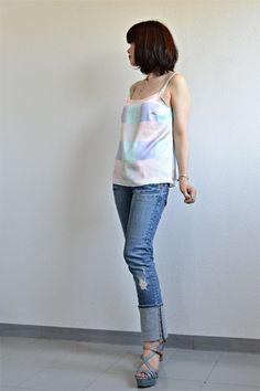 Salmepatterns - silk camisole by Yoshimi #tanks #sewing #salme