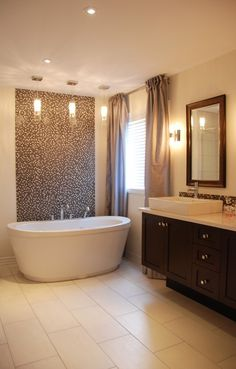 Mosaic tile feature wall...