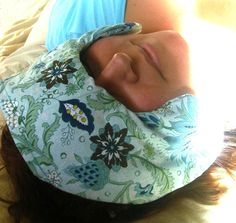 TMJ/Jaw/Head ache relief Pillows.  Use hot or cold with Organic flaxseeds.  I need this for my headaches!