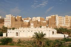 The city of Shibam in Yemen is made up of towering mud skyscrapers, many of which are around 500 years old. The area has been a UNESCO World Heritage site since 1982.