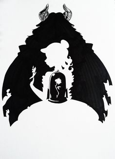 Beauty and the Beast Silhouette Art by Hoshino-Libra on DeviantArt